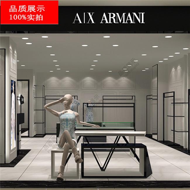 女装小店装修效果图—阿玛尼